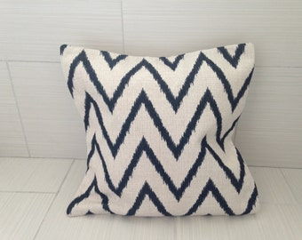 Black Chevron Pillow Cover  *ON SALE