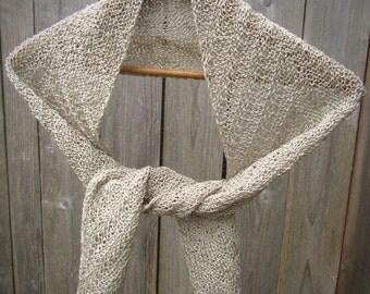 Linen Scarf   Women's Scarf   Women's Scarves   Washable Scarves   Vegan   Handmade Scarves   Knit Scarves   Lightweight Scarf