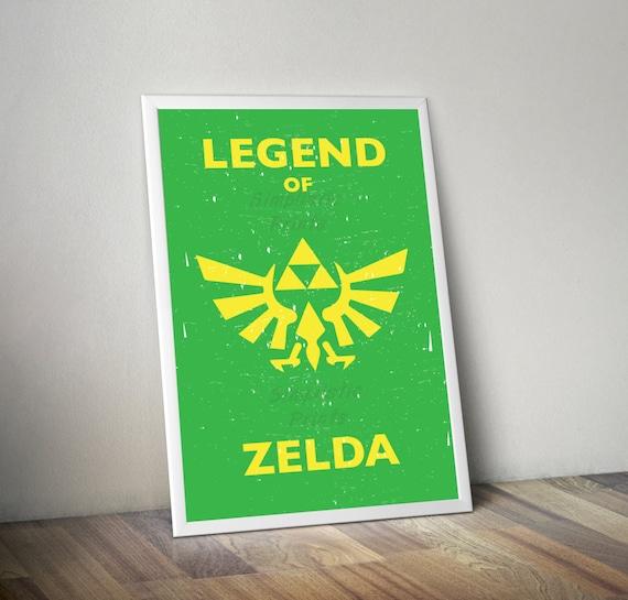 Minimalist Classroom Zelda ~ Legend of zelda minimalist retro poster vintage