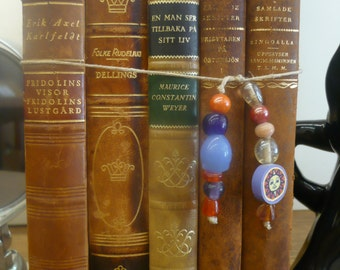 Decorative  Leather-Bound books in Swedish
