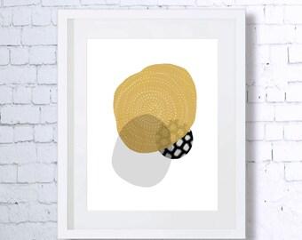 Gold, Abstract, Art Print, Printable Art, Downloadable Print, Modern Art, Home Decor, Minimal Art, Minimalist Art, Wall Decor, Shapes