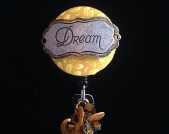 Dreams of Gold-Nurse Retractable ID Badge Reel/ RN Badge Holder/Doctor Badge Reel/Nurse Badge Holder/Nursing Student Gifts