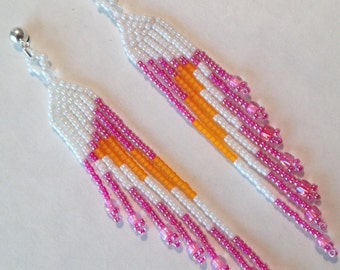 Rainbow Sherbet Rocaille Earrings