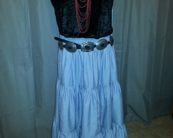 Traditional Navajo Woman's Skirt 3-tiered