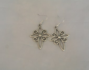 silver decorative star earrings-star earrings-silver star earrings-star jewelry