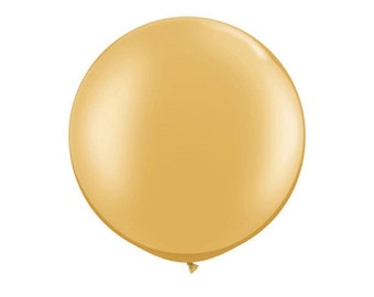 1- Round Gold 36 inch Balloon- Colorful and great quality. Helium Quality
