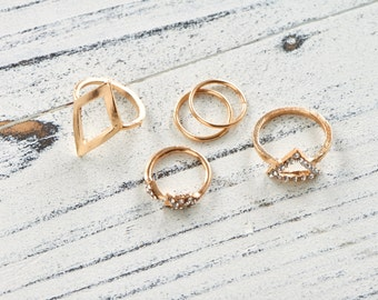 group of gold filled rings