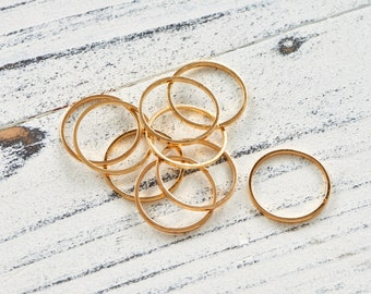 Group of layering gold fill rings