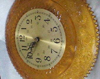 Beautiful Vintage Tiara Amber Wall Clock