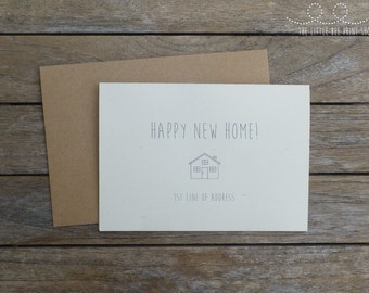 Happy New Home Personalised Greetings Card