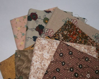 Fat Quarters  8 Bundle  Assortment 100% Cotton ,Quilting,sewing,scrap booking,fabric,deco,cloth,charm q