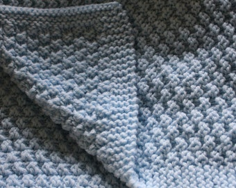 Knit baby blanket - many colors choices