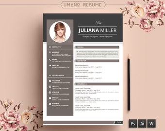 modern resume template free cover letter for word ai psd diy printable - Free Modern Resume Template