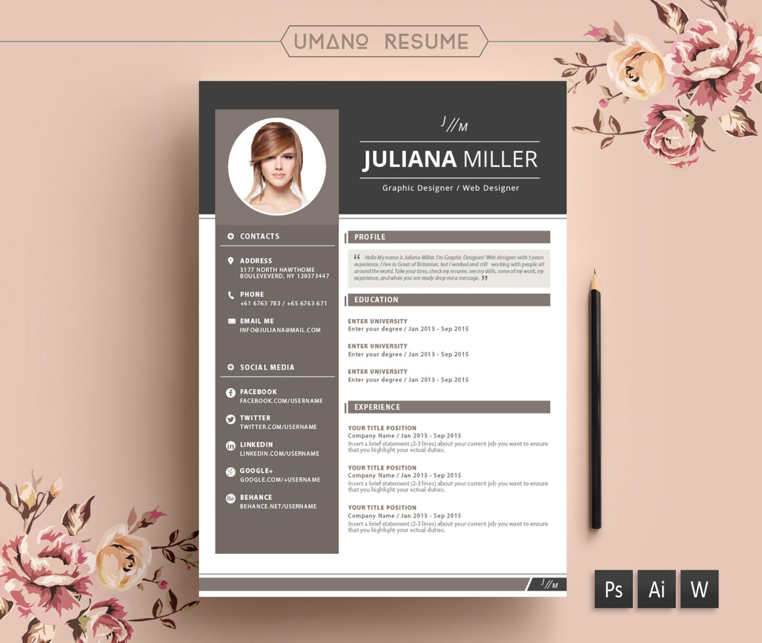 contemporary resume templates free vintage resume template cover modern resume format