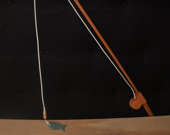 Wooden fishing set