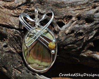 Wire Wrapped Royal Imperial Jasper in Sterling Silver