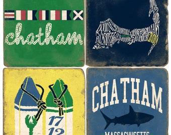 Chatham Cape Cod Italian Marble Coasters