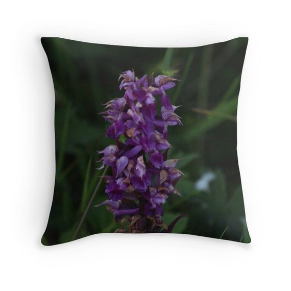 Lavender Flower Throw Pillow : Purple Flower Throw Pillow Flower Pillow by GriffingHomeDecor