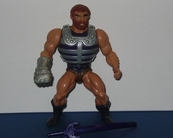 Vintage 1980s Mattel Masters of the Universe Fisto Figure - Complete w/comic
