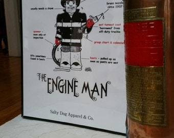 Engineman Firefighter Print Artwork