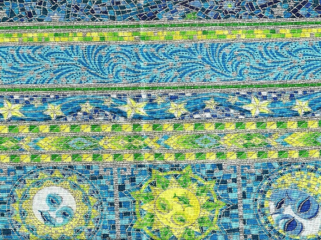 Maywood sun moon stars metallics 100 cotton fabric with for Sun moon and stars fabric
