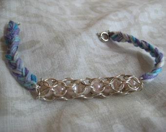 Handmade Purple Ombre Pearl Bracelet