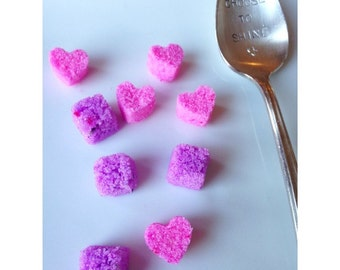 Flavored Sugar Cubes (hearts, cubes, lavender, rose, vanilla bean..) Champagne toast, Absinthe, Tea, Coffee sweetener
