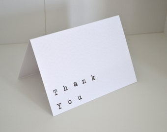 Thank you hand stamped card