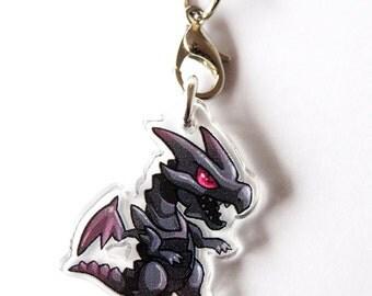 Red Eyes Black Dragon Acrylic Charm