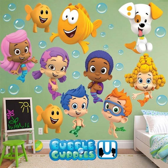 Bubble Guppies Wall Sticker Gil Molly Goby Deema Oona Nonny