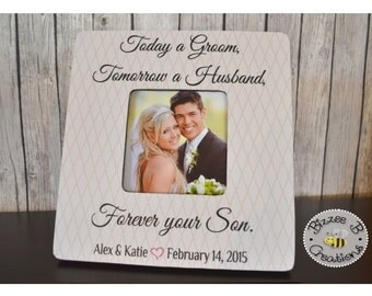 Today a Groom Picture Frame, Parents Gift, Mother of the Groom, Father of the Groom, Parents Wedding Thank You Gift, Parents Frame