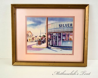 1991 Numbered 23/50 Framed Print Silver's Pharmacy By Artist Ford