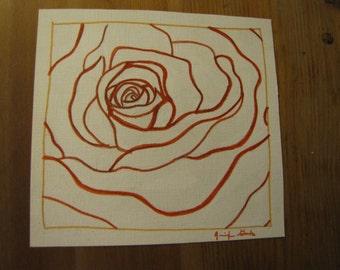 rose drawing, drawing, hand drawn rose