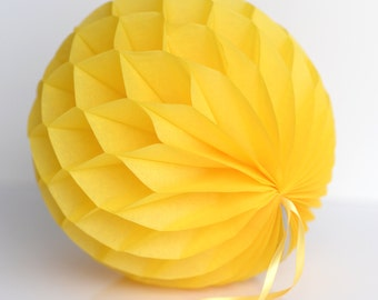 Buttercup Tissue paper honeycombs -  hanging wedding party decorations, paper ball, party honeycombs, party decor
