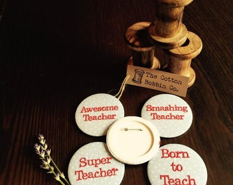 Male Teacher Badges Thank you Teacher Gifts Teacher presents for males