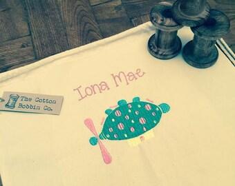 Pinky Ponk Inspired Nursery Bag 100% Cotton PE BAG Personalised Toddler bag In The Night Garden