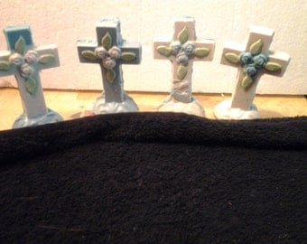 3-D Candy Crosses  with Roses-- x  6