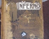 Vintage 1880's Dante's Inferno Book Illustrated By Gustave Dore Satan Devil 666 Occult Witchcraft Voodoo