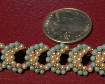 Bar pin Pearl Crescents Brooch Vintage