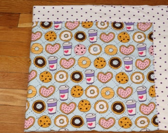 Coffee & Donuts Flannel Blanket