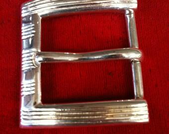 """925  St/Silver Belt Buckle for 1.00"""" Wide Belts.  20.7 gm."""