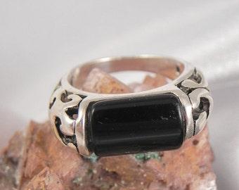 Black Onyx Sterling Silver Ring