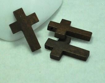 Wood Cross 32x20mm,20pcs Unfinished Small Bare Wood Cross Bead,Wood Cross Pendant,Wood Cross Necklace