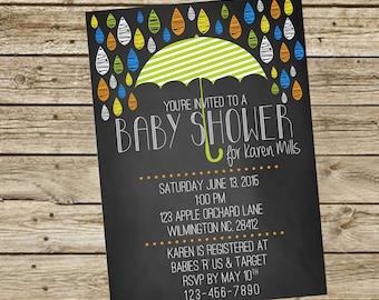 Baby Shower - Umbrella Chalkboard