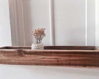 Long Wooden Planter - Rectangle Planter - Window Sill Planter - Box Planter - Reclaimed Wood - Succulent Garden Box