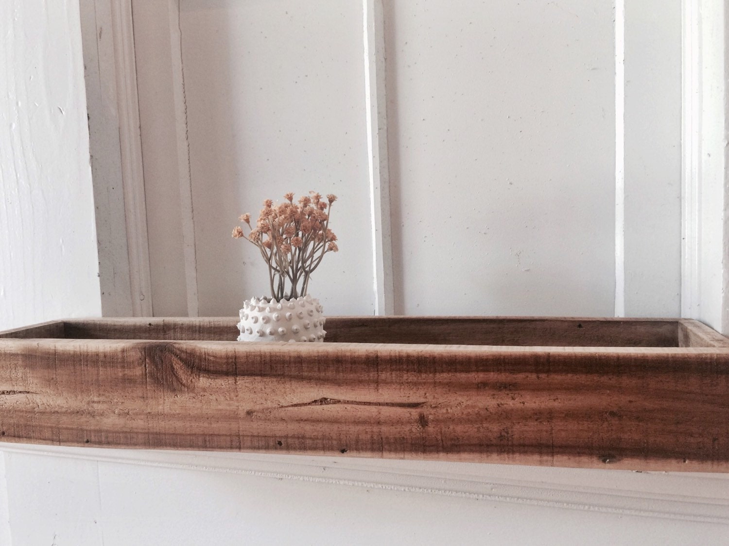 Like this item? - Long Wooden Planter Rectangle Planter Window Sill Planter
