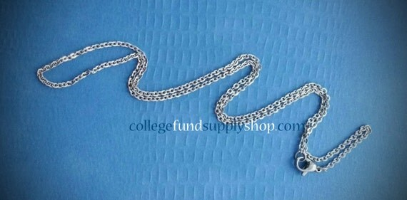 """18"""" CABLE style Stainless Steel Necklaces with LOBSTER Claw Clasp, Chain, Supply Jewelry Making, Metalwork"""