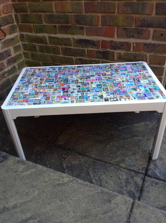 Upcycled Decoupaged Coffee Table By Allfixedup On Etsy