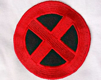 X men inspired logo Patch - Iron on - Embroidered