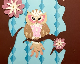 Baby Owl- paper craft